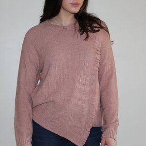 Ivanka Trump Knit Sweater w/ Ruffled Detailing